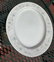 "English Garden Fine China of Japan #1221 14"" Oval Serving Platter Great Shape"