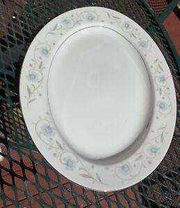 "English Garden Fine China of Japan #1221 14"" Oval Serving Platter Great Shape"