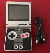 Game Boy Advance SP - NES Shell - Backlit LCD - Nintendo Gameboy GBA AGS-101