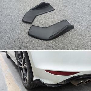 2 Pcs Universal Car Bumper Spoiler Rear lip Canard Diffuser Wrap Angle Shovel