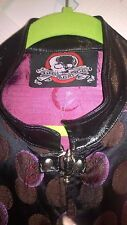 VINTAGE LIP SERVICE GOTH/GRUNG PURPLE JACKET FAUX LEATHER TRIM BULLET HARDWARE M