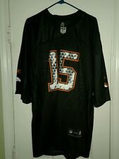 NWOT Denver Broncos Tim Tebow Reebok Black Orange Sewn Jersey Mens Sz XXL