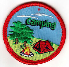 """""""CAMPING""""-  IRON ON EMBROIDERED PATCH - Trip - Vacation - Outdoors - Camp"""