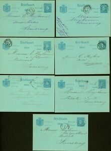 India Netherlands 1891-1892 - Lot of 9 Postal stationary on postcard.. MV-9342