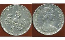 ROYAUME UNI   five   5  pence 1968