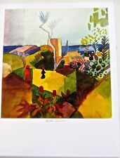August Macke Poster Landscape by the Sea  Unsigned Offset Lithograph 14x11