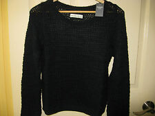 ABERCROMBIE & FITCH Elaine Sweater Navy Blue Knit A&F Sweater Size M FREESHIP