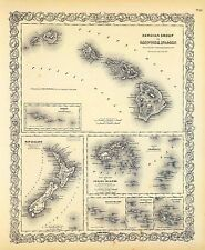 94 maps Hawaii Cook map Sandwich Islands old State history atlas roads Dvd