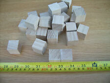 "10x Wood cubes. Wooden cubes / blocks.25mm 1"" ASH not Birch"