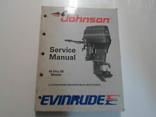 1989 Johnson Evinrude Outboards 40 thru 55 Service Shop Manual OEM Boat 507755 x