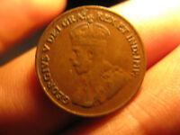 1921 Canada Small Cent Penny Rare Nice Grade Coin.