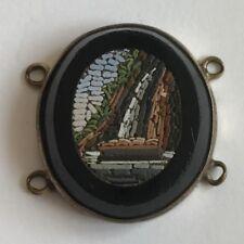Antico 19th secolo MICRO MOSAICO PANNELLO probabilmente a cascata 23mm x 20mm