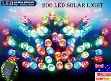 200 LED 20.9M MULTI COLOUR SOLAR CHRISTMAS WEDDING PARTY FAIRY STRING LIGHTS