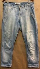 Women's J. LINDEBERG BLUE JEANS TRUE BLEACHED DENIM SIZE 32X 24 Cropped Jeans