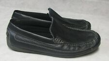 Men's Size 13 Black Leather Faded Glory Loafers Shoes