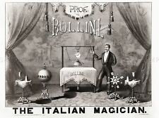 BOLLINI ITALIAN MAGICIAN 1879 MAGIC FILES VINTAGE ADVERT POSTER PRINT 500PYLV