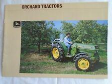 John Deere Orchard Tractors brochure undated English text ref 9-1874065
