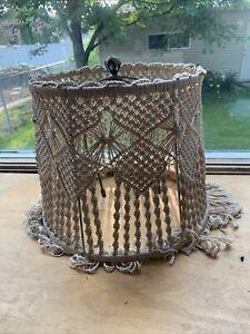 Vintage Handmade Macrame Lampshade