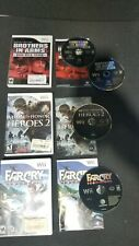 Nintendo Wii 3x Shooter Games Lot -Brothers in Arms, Medal of Honor & Farcry CIB