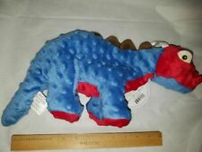 Go Dog Dino Toy Large Spike Stegosaurus Red Blue Brown with Chew Guard Materiel