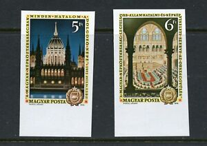 X226  Hungary  1972  Parliament   IMPERF  2v.   MNH