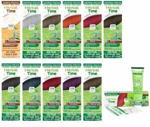 Henna Hair Colour Cream Herbal Time Bio Care Ammonia, PPD Free Semi-Premanent