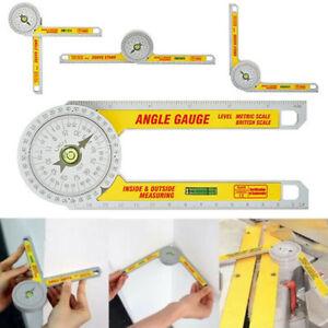 Pro Plastic Angle Finder Protractor Goniometer Miter Gauge Engineer Ruler Tools.