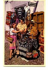 Mexican Street Vendor-Tourist-Pan American Airline-Vintage Advertising Postcard