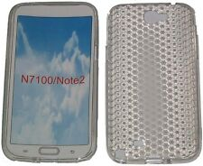 Pattern Gel Case Protector Cover For Samsung Galaxy Note 2 GT N7100 N7105 Clear