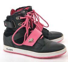 Vlado Women's 'Atlas Hi' Black Pink Rose Leather Athletic Shoes Size US 9 EUR 40