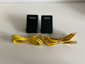 2x D-Link DHP-300AV TalkTalk Powerline Ethernet Adaptor Adapter Pair Set