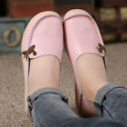 Women's Casual Shoes Leather Loafers Driving Peas Moccasin Flats Single