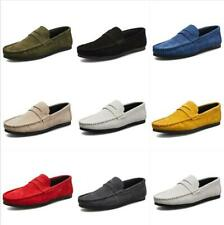 Vogue Mens Slip On Suede Flats Loafer Moccasin Gommino Driving Casual Boat Shoes