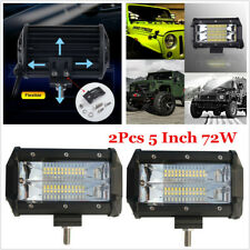 2x 5inch LED Work Light Bar Flood Lights For Driving Lamp Offroad Car Truck SUV