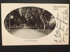 Antique POSTCARD c1904-07 The Village Street MOUNT CARMEL CT Connecticut (20198)
