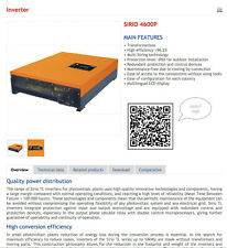Aros-Solar Sirio 4600P-X ON GRID Solar Inverter
