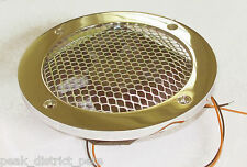 Bathroom Galley 12v extract fan on heavy Chrome or Brass surround   ECFHDGRL12x