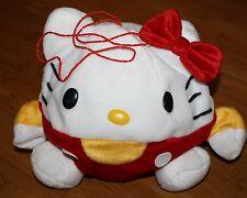 "Hello Kitty PLUSH Inflatable Ball Sanrio 8""  Red Bow 2000 Sanrio Stuffed toy"