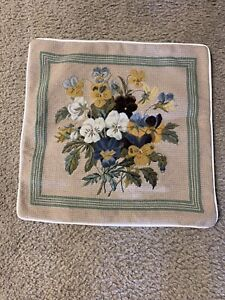 """NWT Needlepoint 16x16"""" Throw Toss  Pillow Covers"""