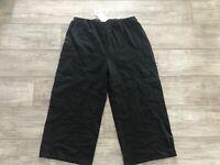 $96 NWT Iridium Black Cotton Pants Size XL Three Pockets