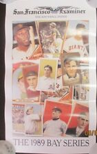 """1989 World Series """"Bay Series"""" A's & Giants Poster by The San Francisco Examiner"""