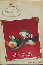 Hallmark Ornament Having Fun With Friends 2002 Collectors Club Penquins