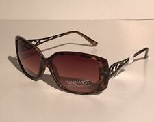 Fashion Nine West Womens Elegant Sunglasses Model MOD Cheetah Square NWT