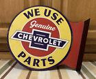 Chevrolet Genuine Parts Vintage Style Flange Flange Garage Gas Oil Metal Signs