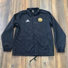 MLS Orlando City SC Adidas Authentic Issued Sideline Jacket Coat BLACK OUT M