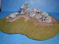 28 MM POLYURETHANE FOAM HISTORICAL/FANTASY ROCK FORMATION VERY WELL PAINTED