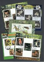 Great Britain Animals Bird Pondlife Four Sets of stamps on SEVEN FDI Stamp Cards