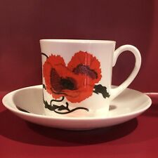 Corn Poppy (Susie Cooper) by Wedgwood | Flat Cup & Saucer Set
