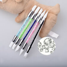 5pcs Silicone Nail Art Brushes Gel Carving Pen Pencil Tool Set