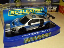 Scalextric C3374 Audi R8 Police Car - Brand New in Box.